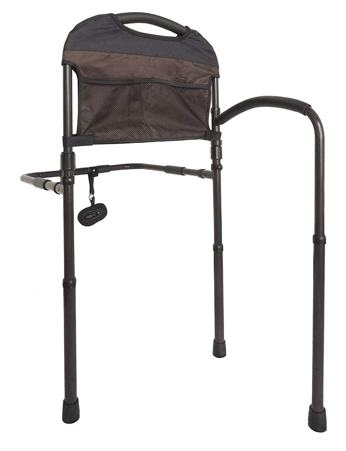 Stander-Mobility-Adult-Home-Bed-Rail--Elderly-Support-Bed-Handle--Swing-Out-Mobility-Arm--Adustable-Legs-Floor-Support--Pouch