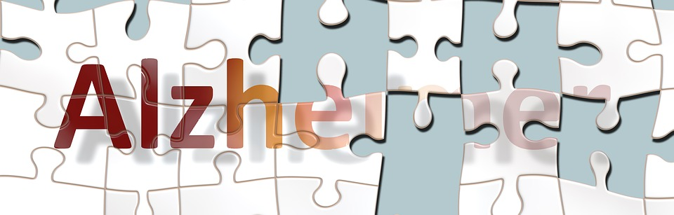 a graphic puzzle depicting Alzheimer's