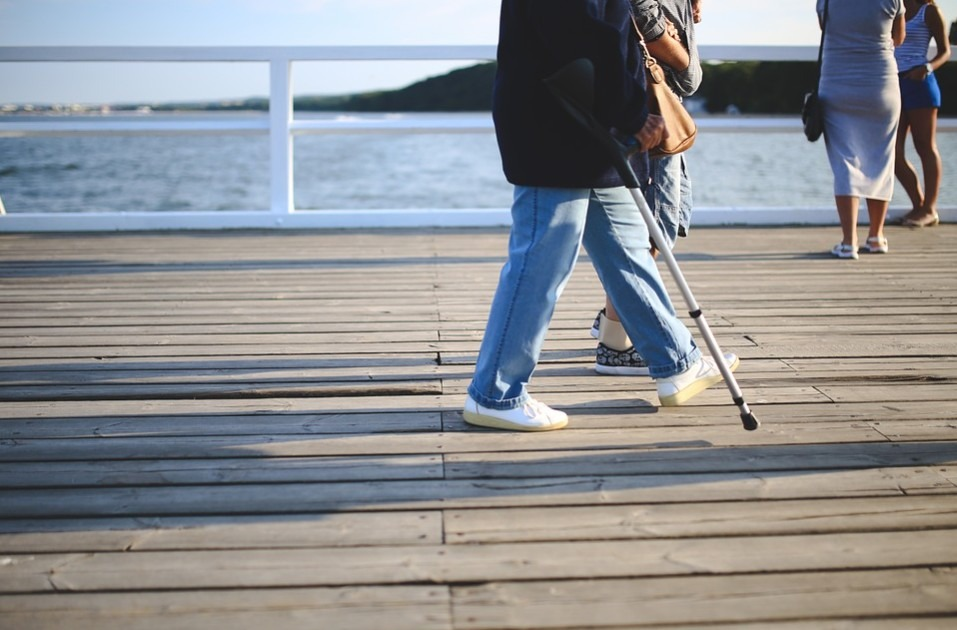 Treatment could include walking with a stick to support body weight and maintain a proper gait